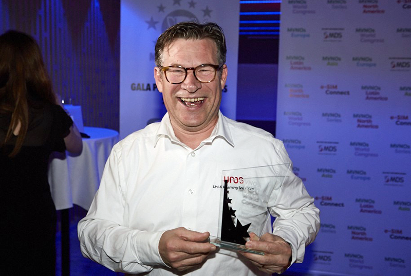 Gerrit Jan Konijnenberg at the MVNO Awards