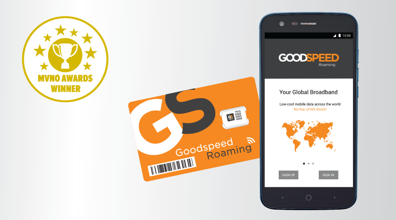Goodspeed Roaming App #1 at MVNO Awards